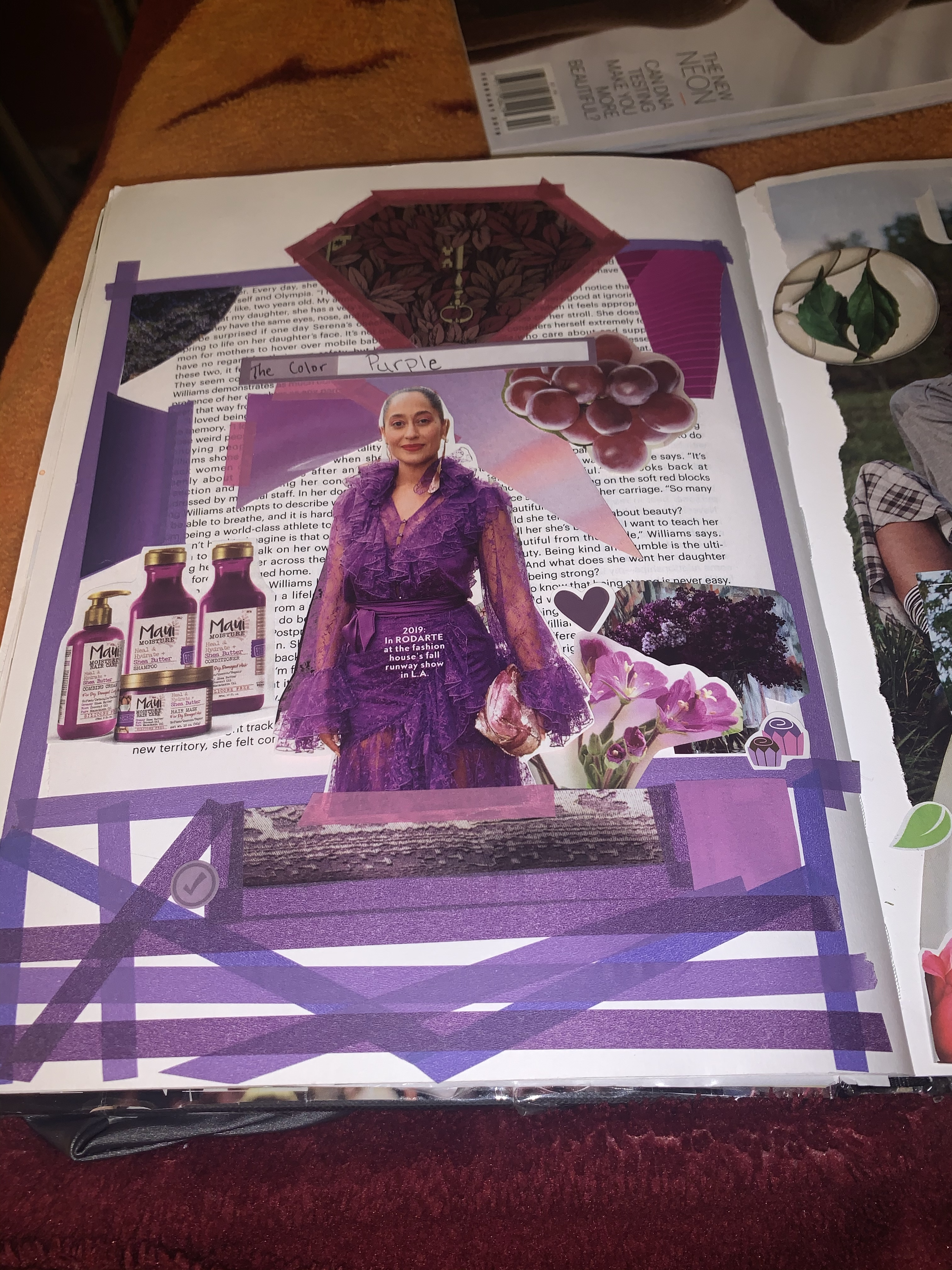 Purple Themed Collage Art