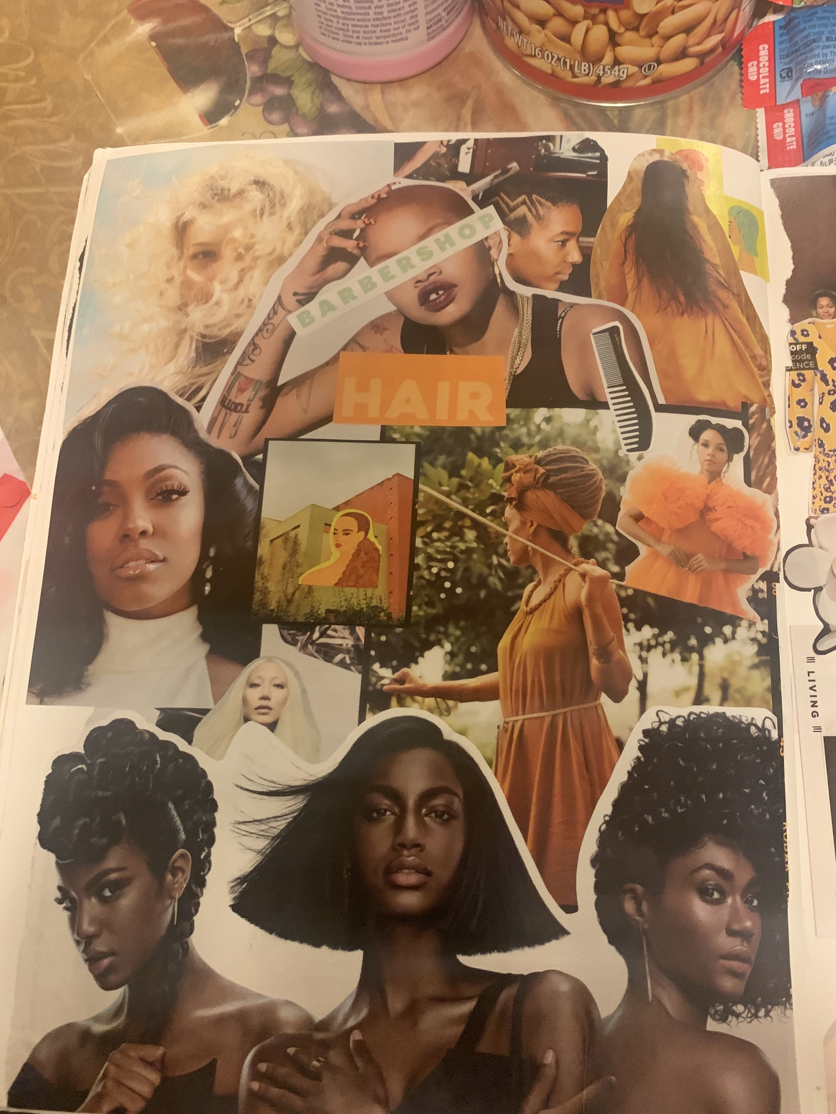 Hair and Natural Hair Themed Collage Art