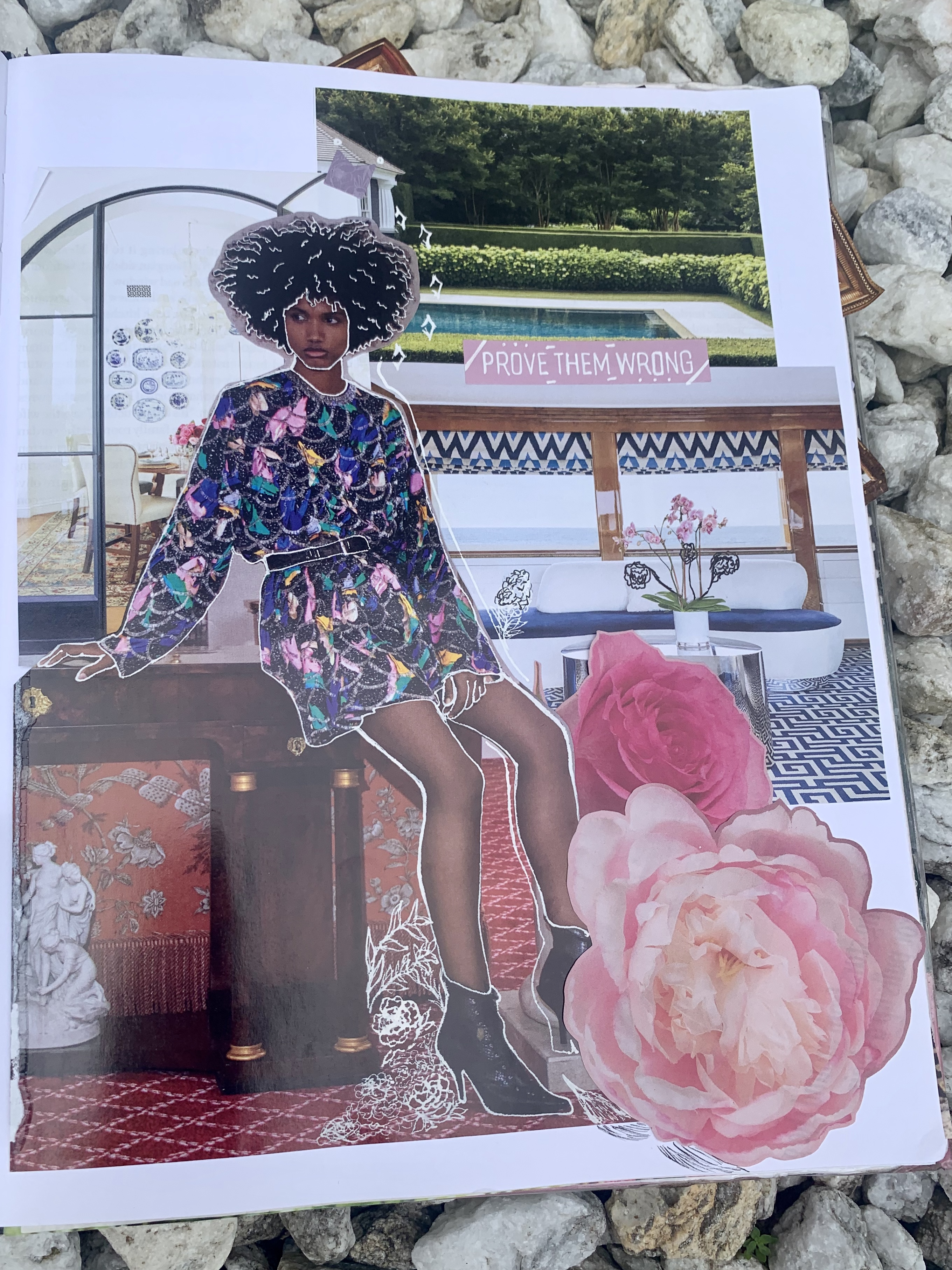 Collage Art Black Woman