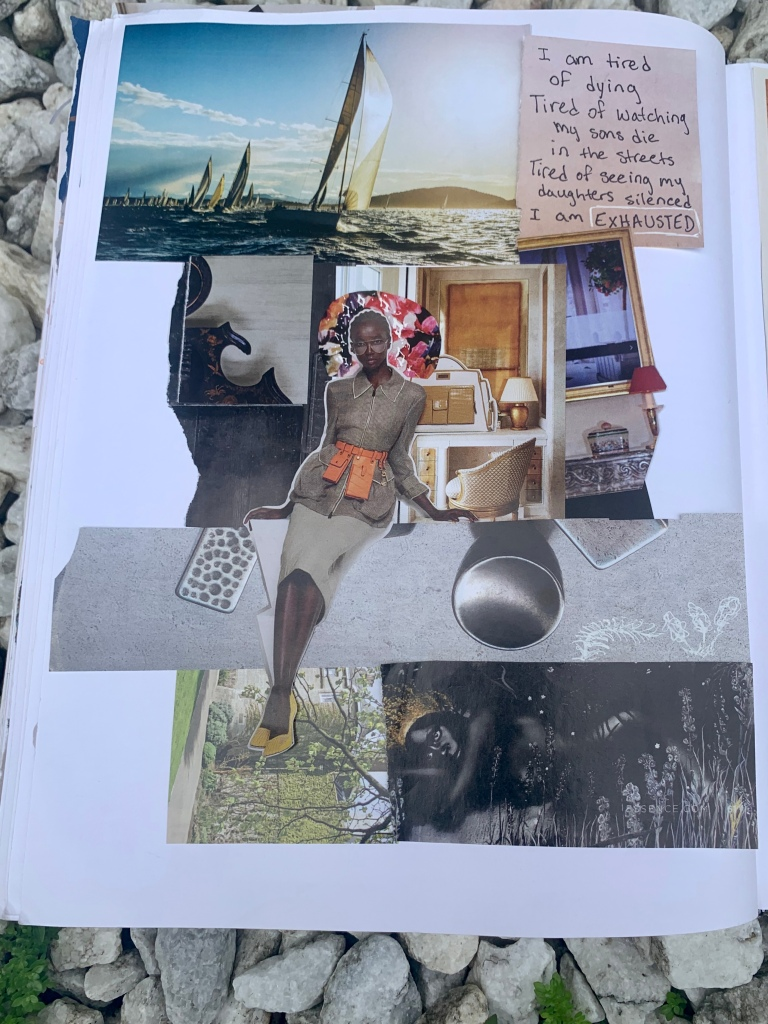 Collage Art Black Model